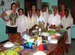 Sr Mariazinha, Sr Leotinha, Sr Alhira, Sr Carmelita, Sr Filomena and Sr Carmelita and one of their fabulous meals