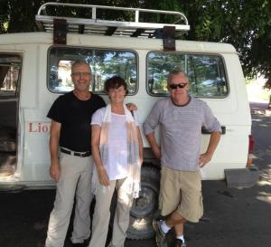 David, Carolyn and Peter with the old troopie