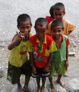little boys in Maubara
