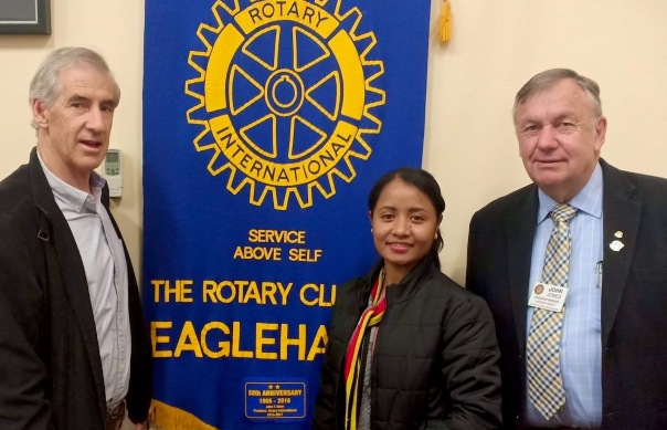 Inda at Eaglehawk Rotary
