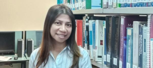 Ana Paula in Fiji Uni's Library